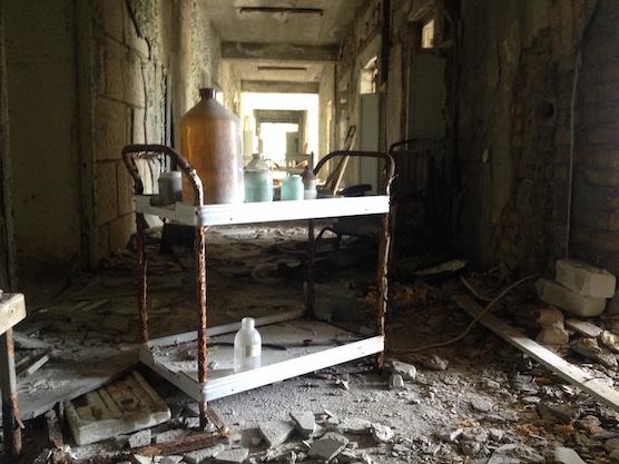Gang in ziekenhuis van Pripyat