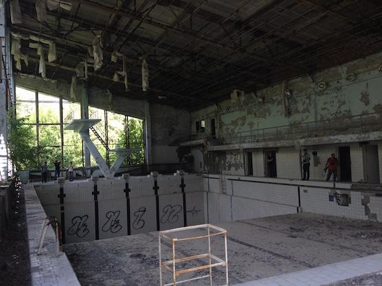 Zwembad Azure Pripyat