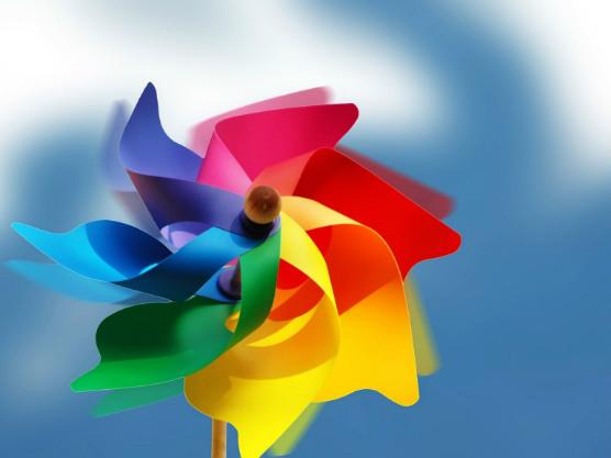 Plastic Windmolen